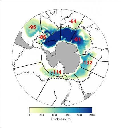 В глубине океана сокращается объём холодной плотной воды