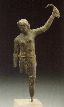 Возможно, обнаружена статуэтка женщины-гладиатора