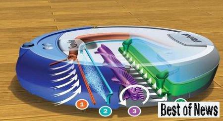 Высокотехнологичный моющий робот пылесос Roomba