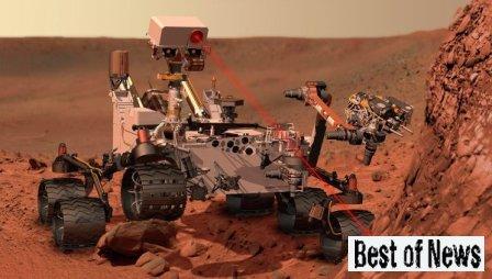 марсоход Curiosity фото с Марса