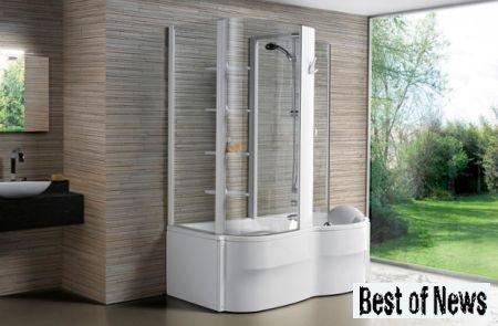 Как выглядит современная ванная с душевым боксом