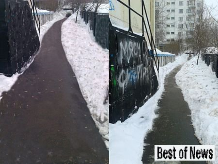 Уборка снега в Москве посредством Photoshop