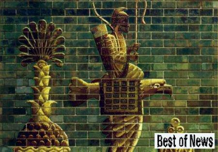Бог Шамашу и легенда про полет Этана