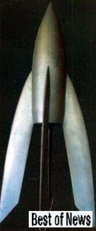 Одна из первых ракет. Музей Петропавловской крепости