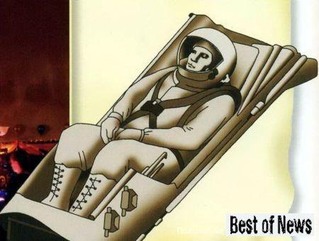 Положение космонавта в кресле