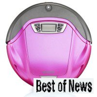 Робот пылесос розовый