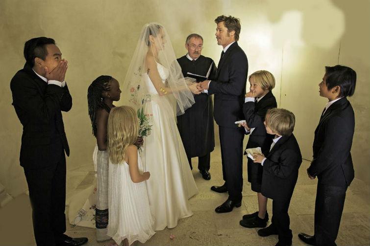 свадьба Джоли и Брэда Питта