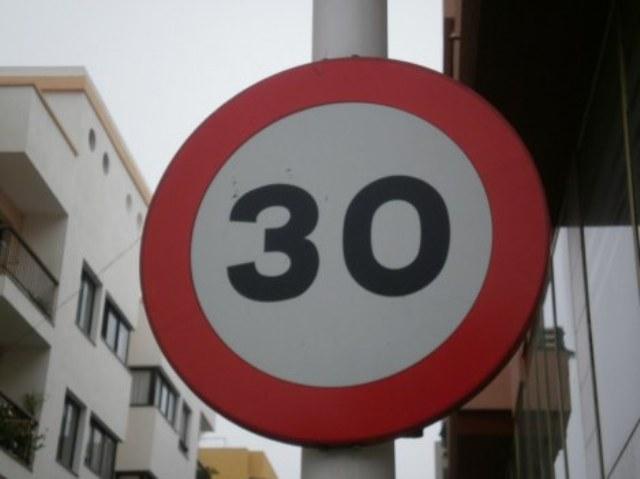 """Зона 30"" в испанском городе"
