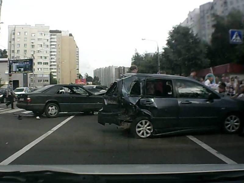 Авария в результате селфи