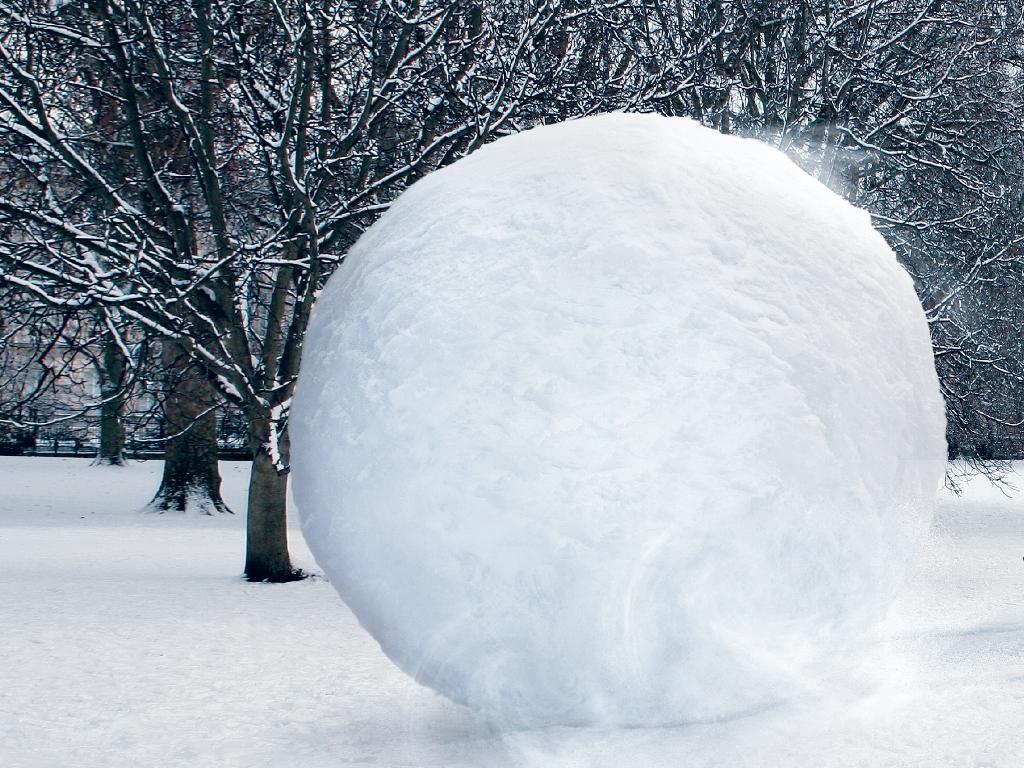 Снег как рекламный носитель