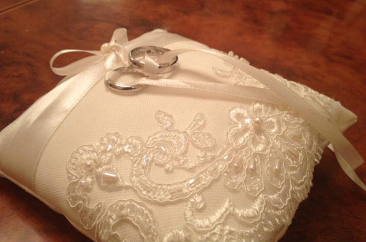 кольца на свадьбе Бородиной