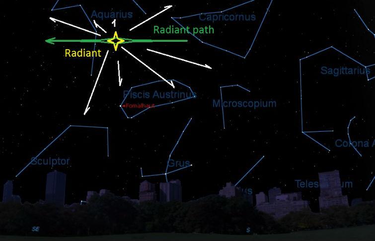 метеоритный дождь дельта-акварид