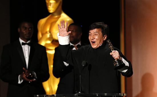 Актер Джеки Чан на вручении Оскара