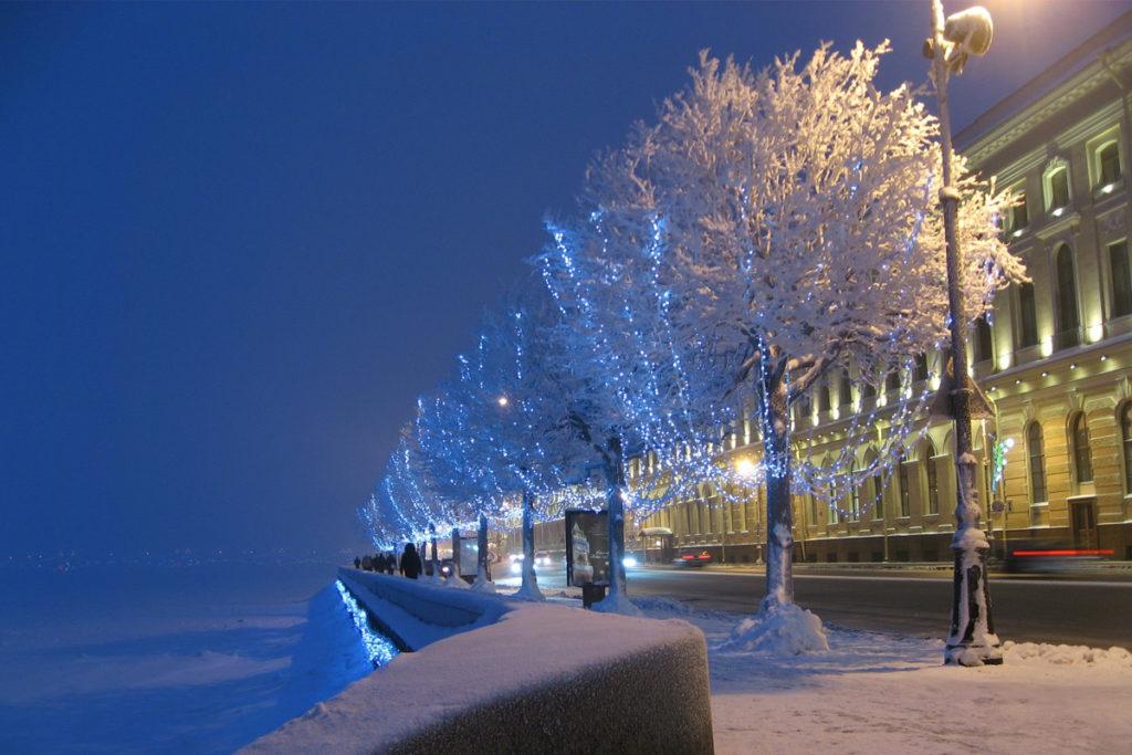новогоднее украшение Петербурга 2019